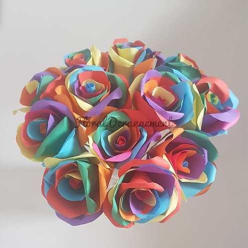 Rainbow roses, Mother's day, Valentine's day, Birthday flowers