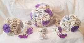 Book, purple and silver wedding set