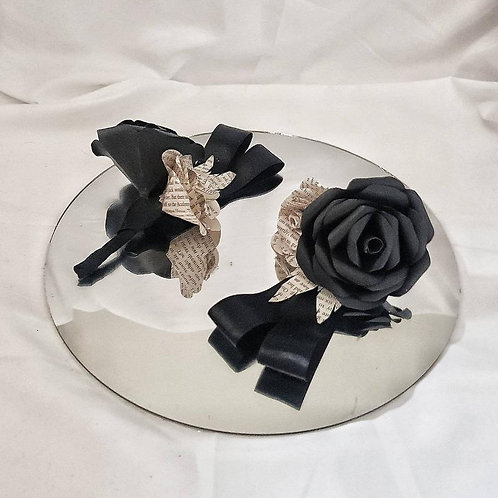 Lupin - Grooms buttonhole, Gothic paper flowers, book boutonniere