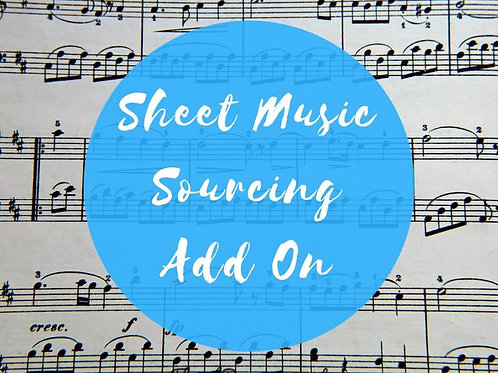 Add-on listing - Song sheet sourcing - Please add to your order for custom sheet