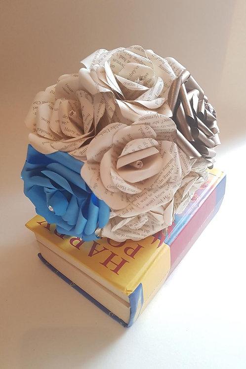 Ravenclaw - Book flowers, Bridesmaid bouquet, Harry Potter wedding