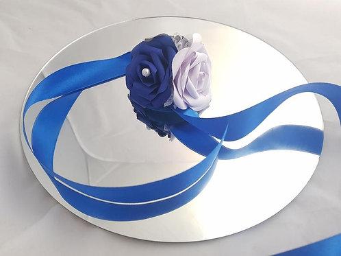 Iris - Wrist corsage, Paper flower corsage, Wedding flowers
