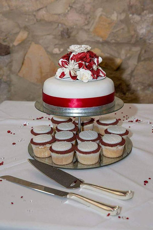 Paper flower cake topper, Wedding cake decoration