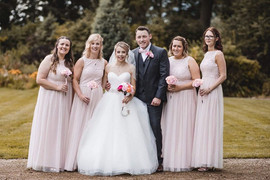 Clarissa and Tom with their bridesmaids