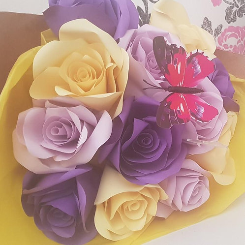 Summer bouquet, paper flowers, special occasion gift, Mother's day