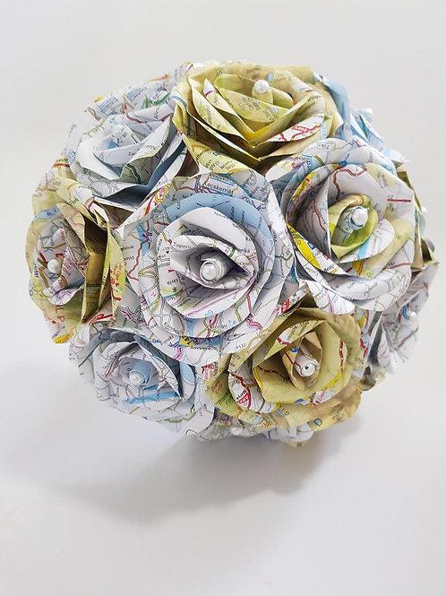 Skye - Map bouquet, map paper flowers, travel wedding, Destination wedding