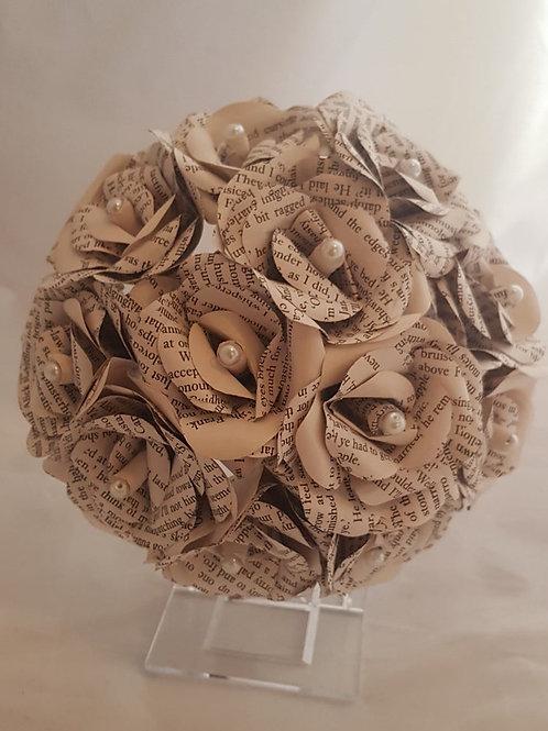 Claire - Outlander paper flowers, Bridal book bouquet, Scottish wedding flowers
