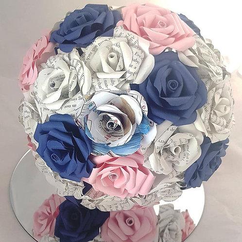 Alice - in wonderland bridal bouquet, Wedding book flowers