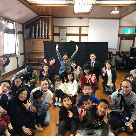 Christmas service at Kofu Kirisuto Fukuin Church in Japan