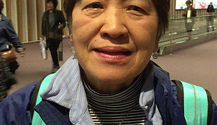 Comment by Tomoko Aoyagi at airport