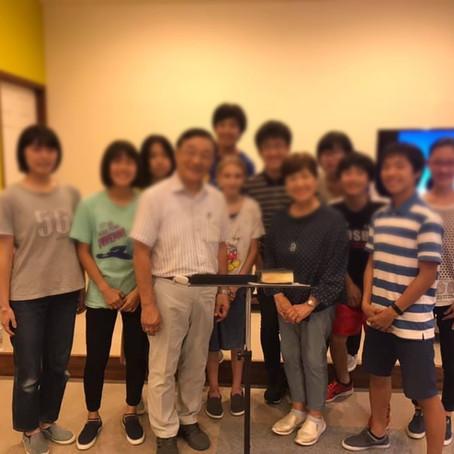 We visited Kakogawa Baptist Church (by ambassador Aoyagi)