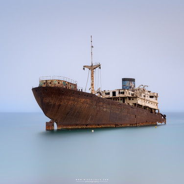 The ship stranded