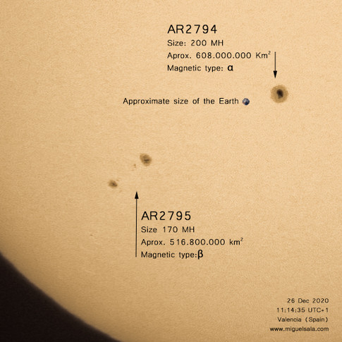 Sunspots, December 26, 2020