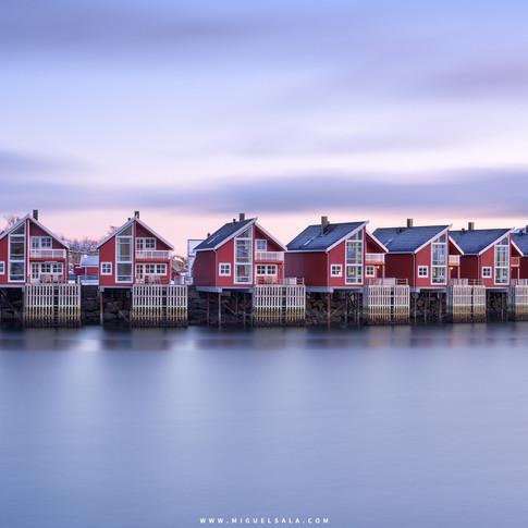 Casas rojas en Noruega