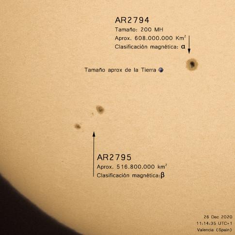 Manchas solares, 26 diciembre 2020