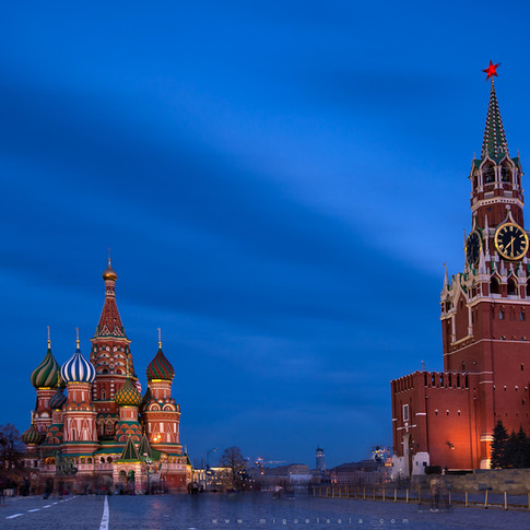The Red Square at the blue hour