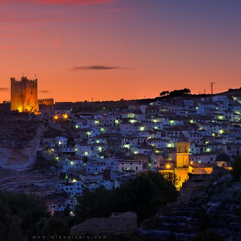 Puesta de sol en Alcalá del Júcar