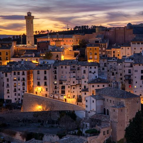 Sunset in Cuenca (Spain)