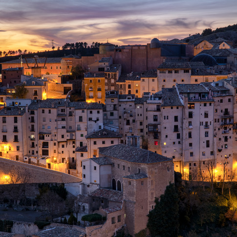 Puesta de sol en Cuenca (España)