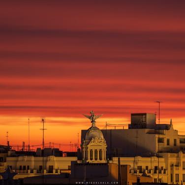 Amanecer en Valencia (España)