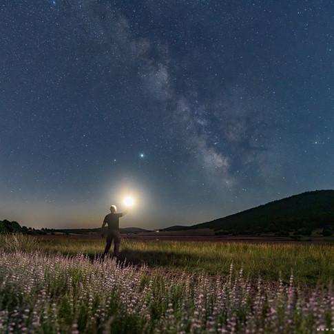 Self portrait with Milky Way
