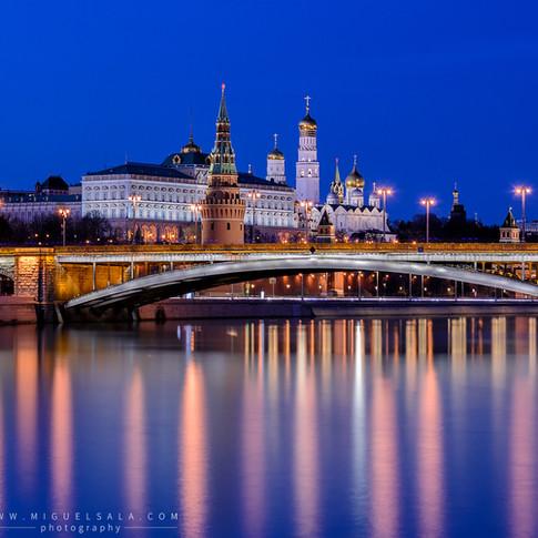 Palacio del Kremlin durante la noche