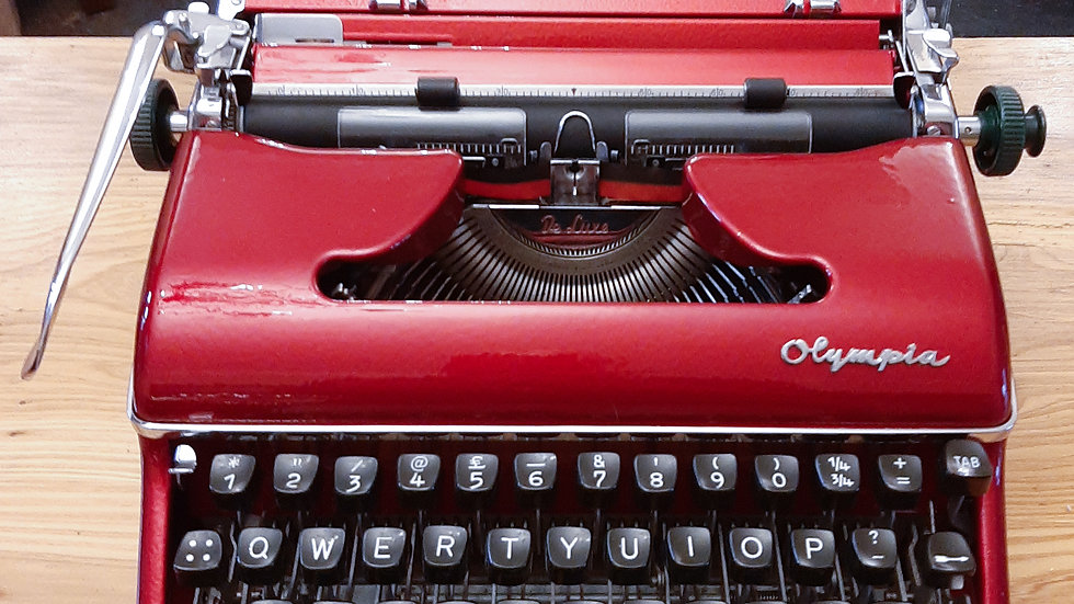 Custom Candy Red Olympia SM4 Typewriter