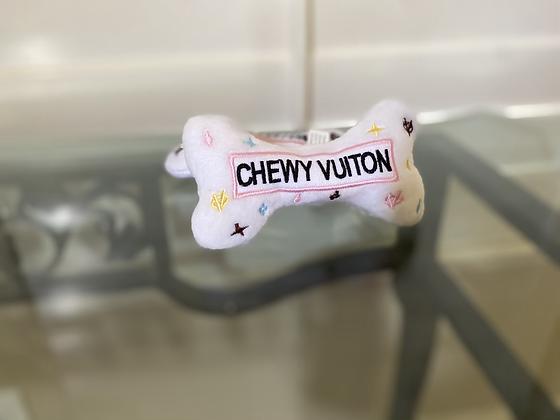 White Chewy Vuiton Bone Toy