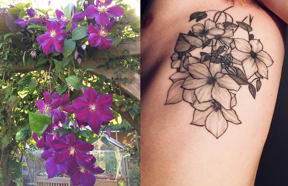 tattoo of a clematis flower