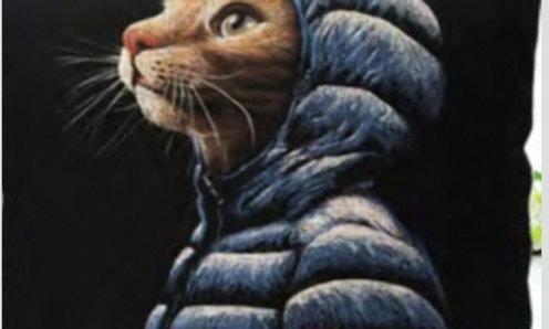 Cojín gato «El pensativo»