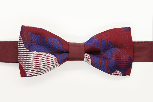 Red/Blue/Withe Camouflage Bow Tie