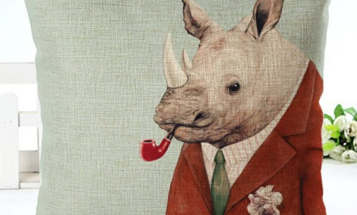 Cojín Rinoceronte Dr. Watson