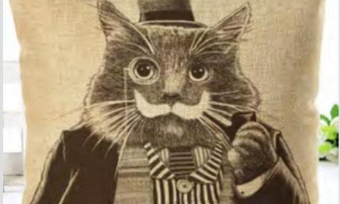 Cojin gato «En blanco y negro»