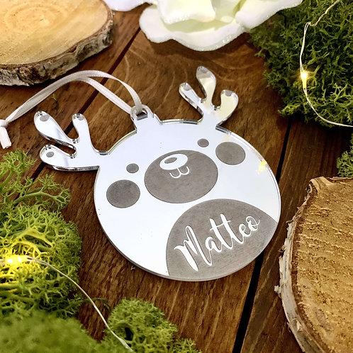 Baby renna albero di Natale con nome