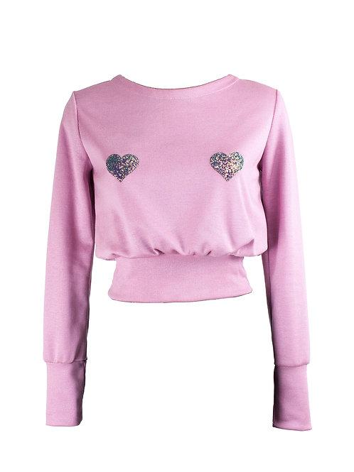 Felpa in maglia Blondinette Rosa Pastello