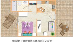 floorplan Regular 1bedroom apts 2 3