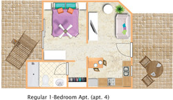 floorplan Regular 1bedroom apt 4