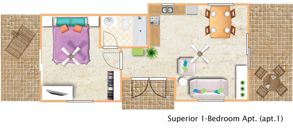floorplan Superior 1bedroom