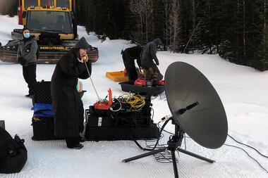 Commercial Shoot in Remote Canadian Rock