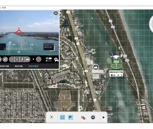Interactive demo with real-time R70 video in flight