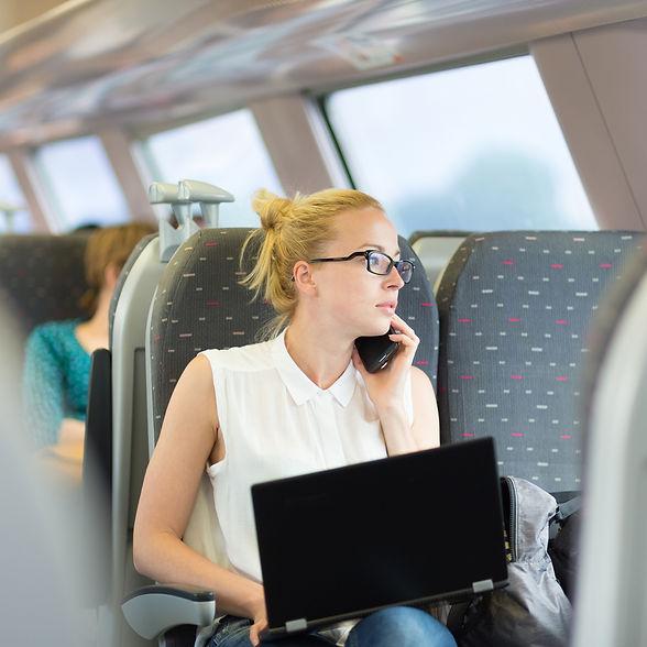 iStock-Transit business woman traveling.