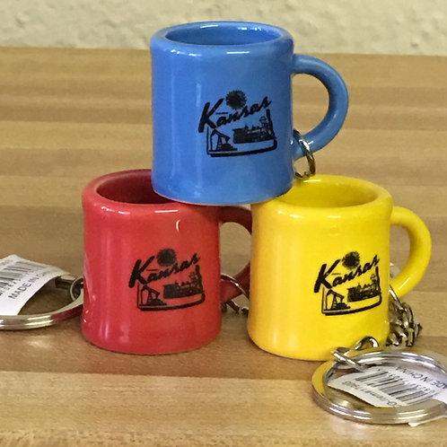 Mini mug Kansas keychain