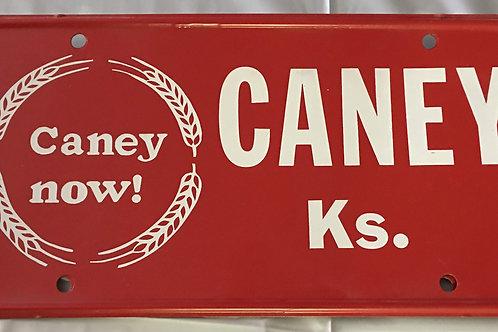 Vintage Caney, KS license plate