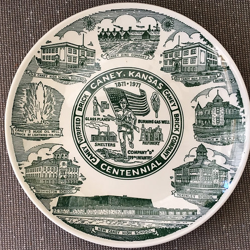 Caney Centennial Commemorative Plate
