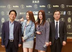 동서울대학교 항공서비스학과 홍규선 교수님, 걸그룹 LPG출신 라늬, 배우 이하얀 씨와 함께