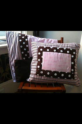 Pink & Brown Crib Set