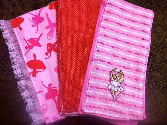 """Ballerina"" Burp Cloth Set"