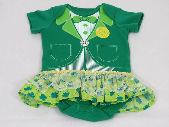 """Kiss Me"" Onesie Dress, Size 0-3mos"