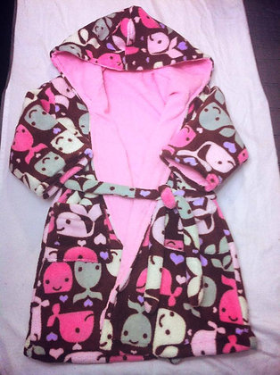 Whale Robe, Size 4T