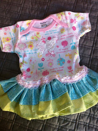 Butterfly Onesie Dress, Newborn